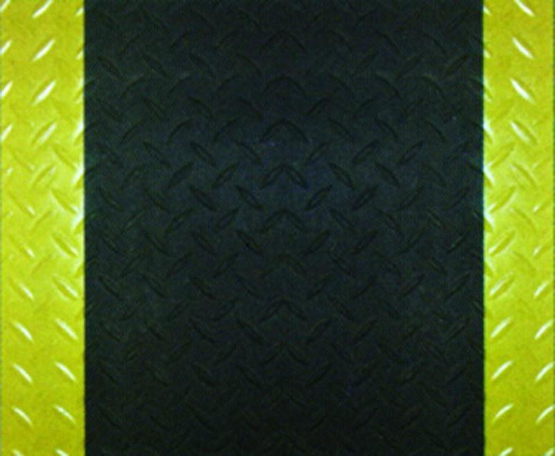 黑色钢板纹+黄边